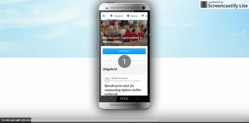 Nieuwe mobiele site voor StinsKracht.nl