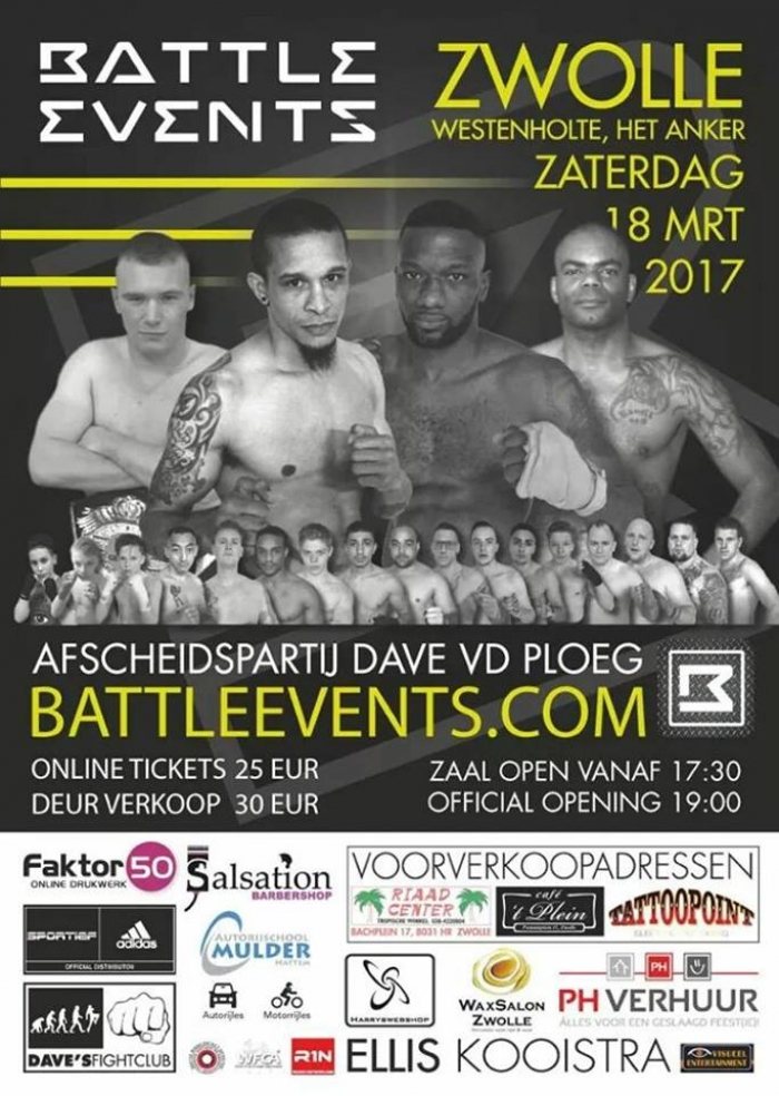 18 maart: BattleEvents Vechtsport Gala