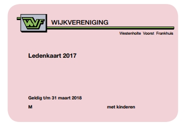 Ledenkaarten WVF 2017 verspreid