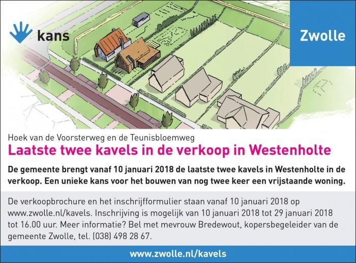 Laatste twee kavels in de verkoop in Westenholte - Stinspoort