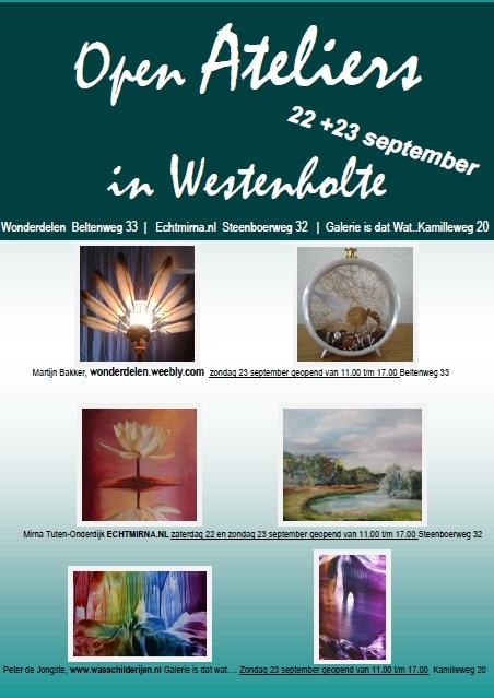 Open ateliers in Westenholte, Galerie Is dat wat….& Wonderdelen & ECHTMIRNA.NL.