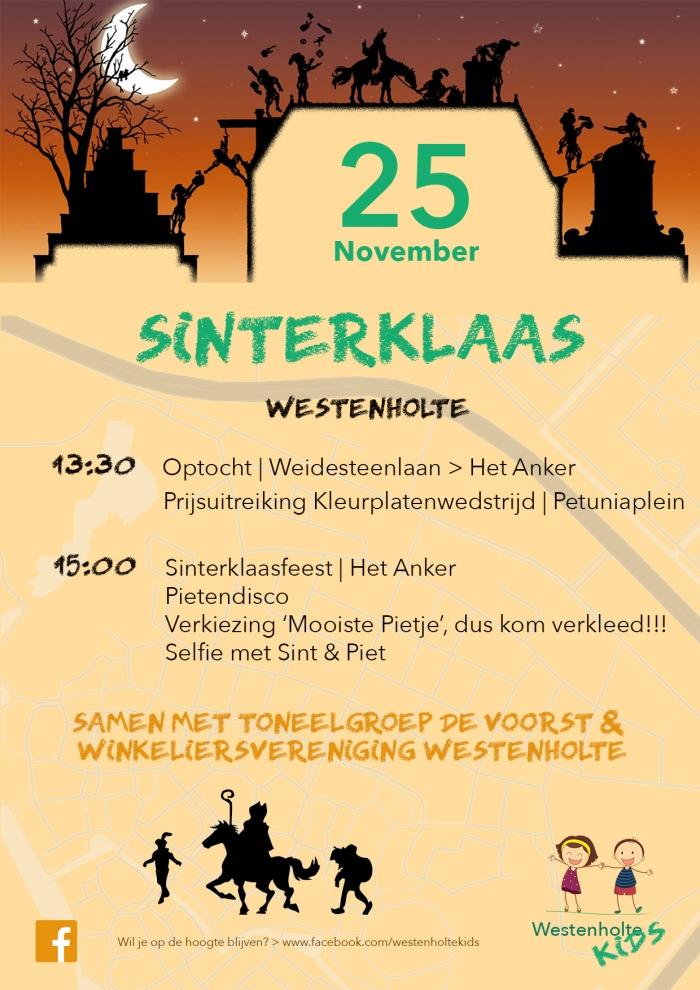 Zaterdag 25 november Sinterklaasfeest Westenholte